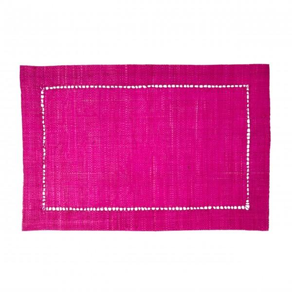 Rice Raffia Platzset (Pink)-1