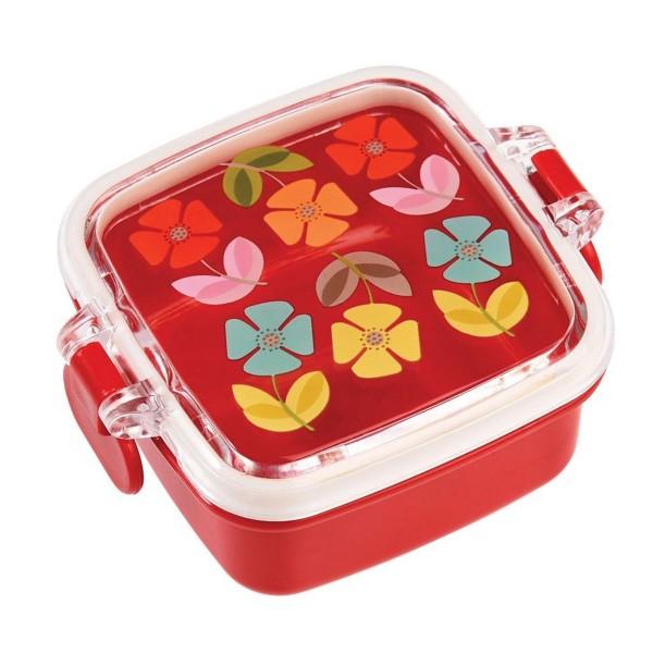 """Hübsches Design und praktische Größe - Snackdose """"Retro Flower"""""""