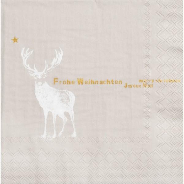 """Papierserviette """"DINING Frohe Weihnachten"""" (Creme) von räder Design"""