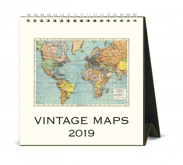 """Cavallini Tischkalender 2019 """"Vintage Maps"""""""