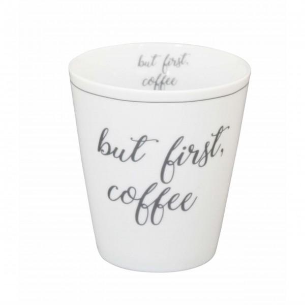 "Krasilnikoff - Happy Mug ""But first coffee"""