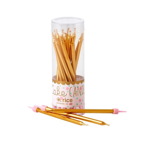 Ein echtes Highlight für den Geburtstagstisch - Rice Kerzen in GOLD ♥
