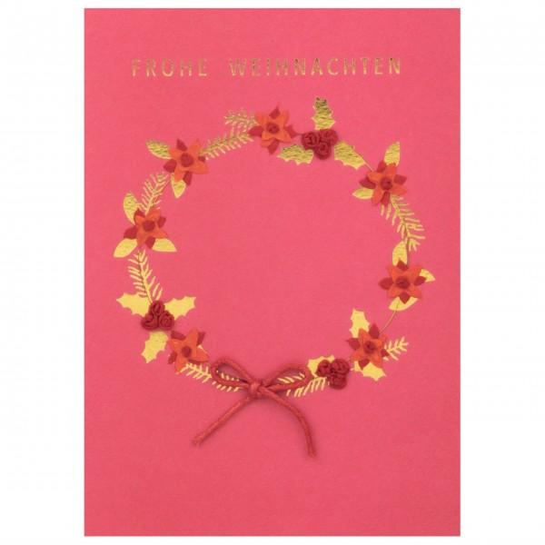 """Weihnachtskarte """"Frohe Weihnachten"""" (Rot) von räder Design"""