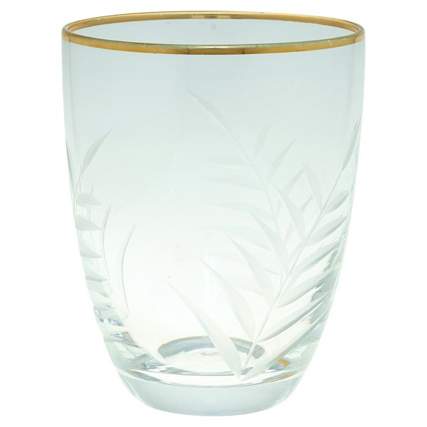 """Wasserglas """"Cutting"""" (Gold) von Gate Noir by GreenGate"""
