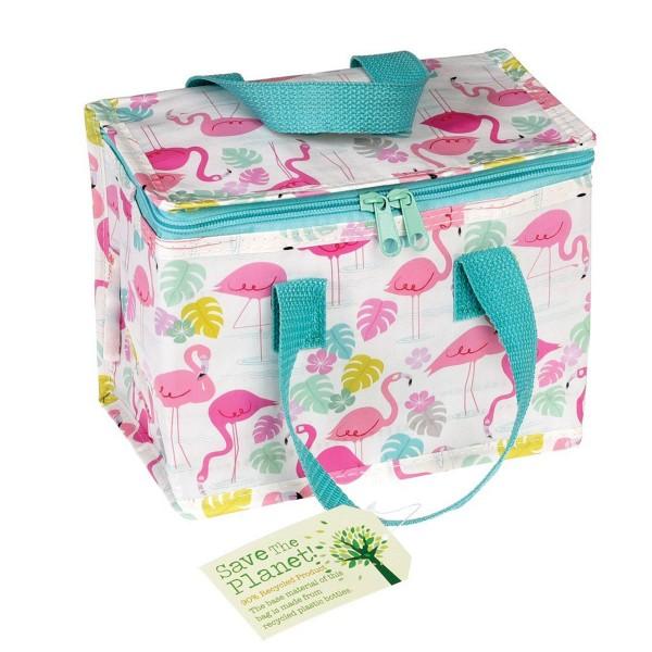 Perfekt für unterwegs - Kleine Kühltasche im coole Flamingo-Design