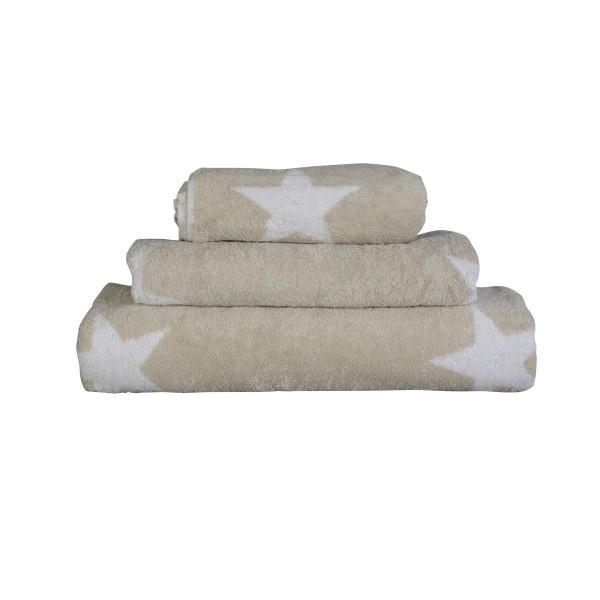 Handtuch mit großen Sternen