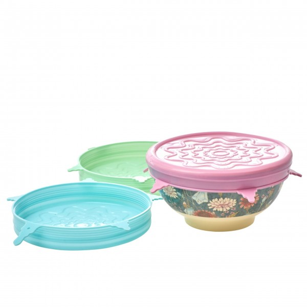 Rice Deckel für Melamin Schüssel (Pastellfarben) - 3 Stck.-1