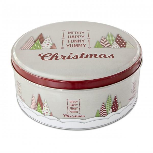 """Runde Gebäckdose """"Yummy Christmas"""" - Groß (Bunt) von Städter"""