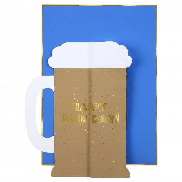 """Glückwunschkarte zum Geburtstag """"Bier"""" von Meri Meri"""