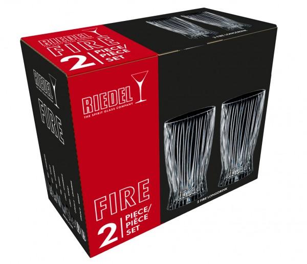 """Riedel Longdrink-Glas 2er Set """"Tumbler Fire"""" Kollektion"""