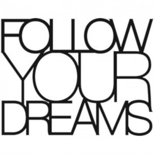 """Wandtattoo """"Follow your Dreams"""" schwarz von räder Design"""