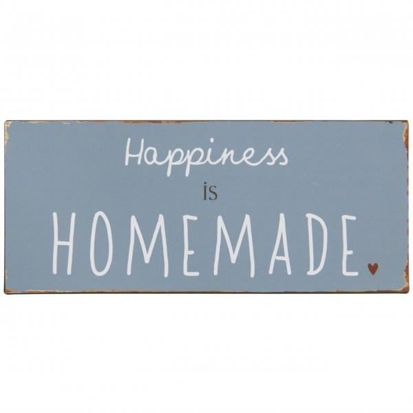 """Ib Laursen Metallschild """"Happiness is homemade"""""""