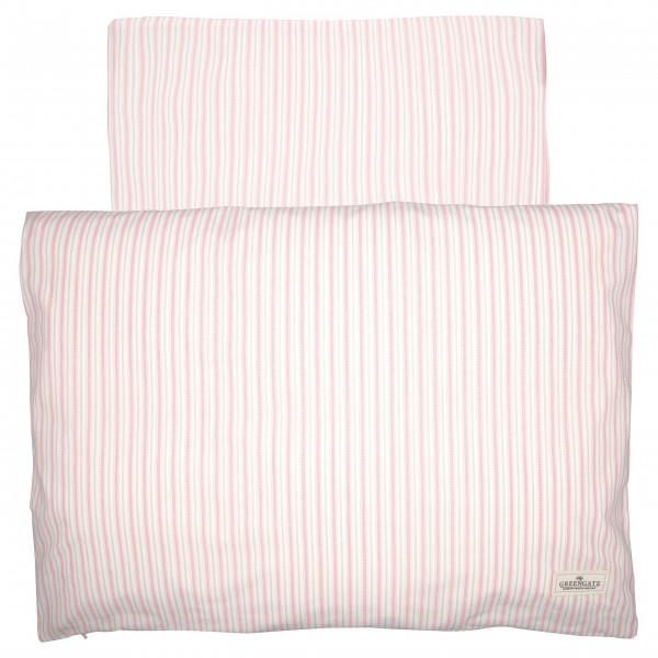 """GreenGate Baby-Bettbezug """"Sari"""" (Pale pink) - 70x100cm"""