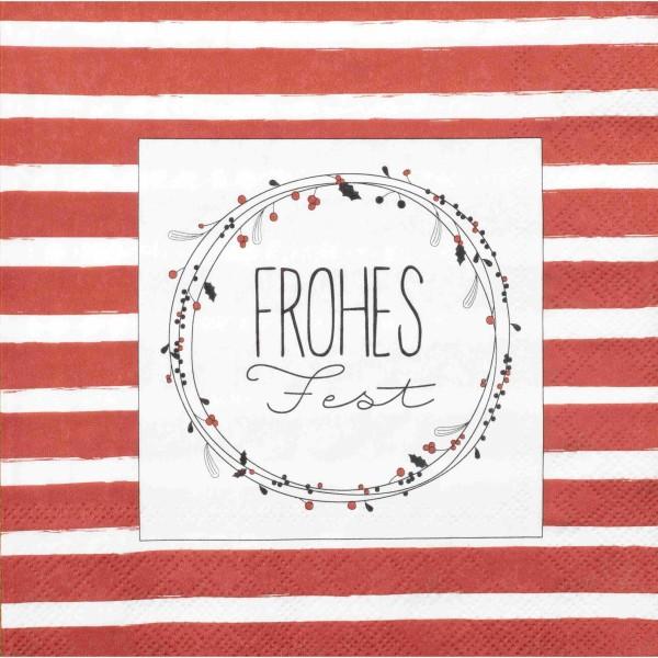 """Papierserviette """"DINING Frohes Fest"""" - 20 Stk. (Rot) von räder Design"""